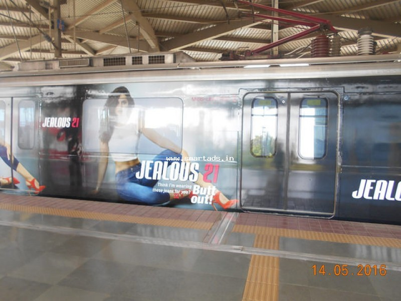 Non-Traditional Advertising in Metro Train Bangalore