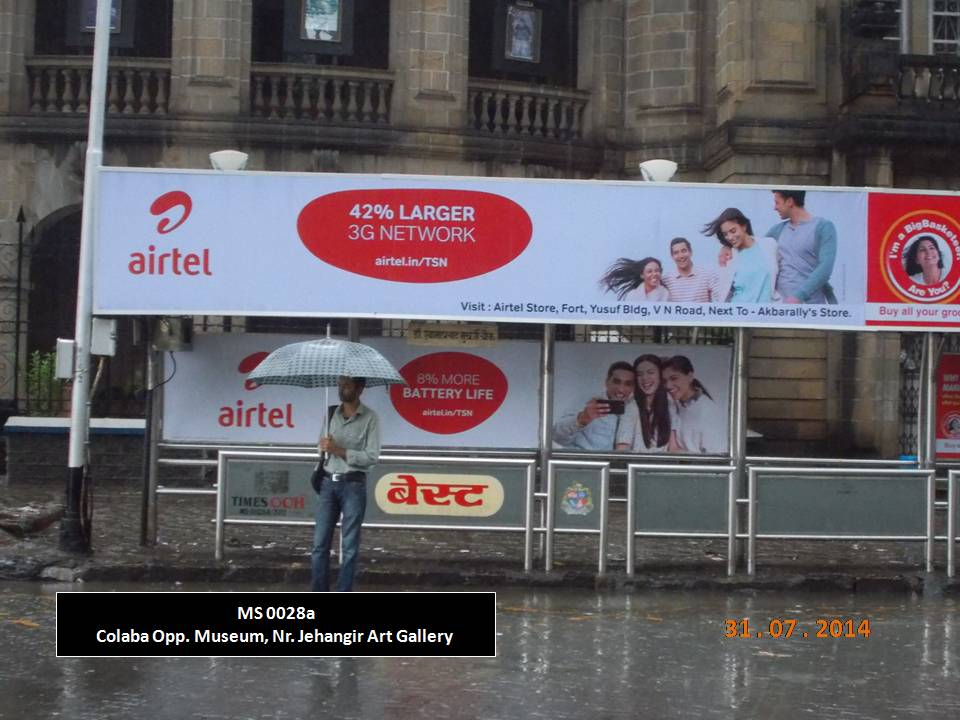 Outdoor Advertising in Bus Shelter Colaba