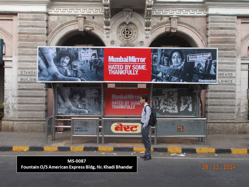 Outdoor Advertising in Bus Shelter Fountain