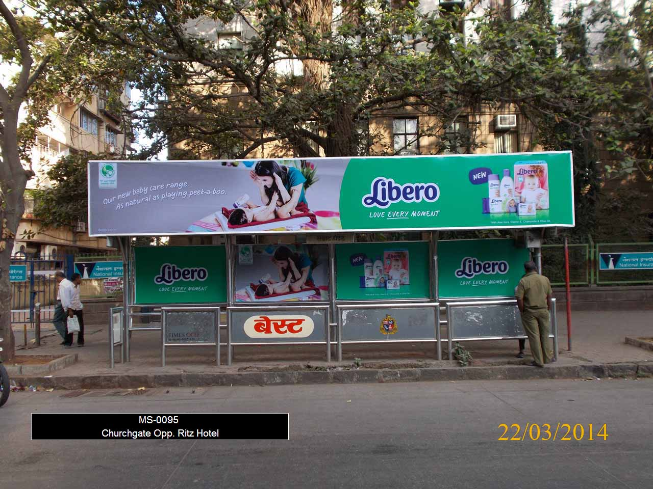 Outdoor Advertising in Bus Shelter Churchgate