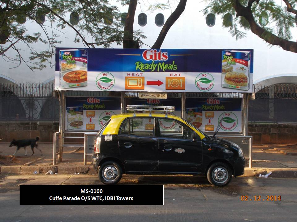 Outdoor Advertising in Bus Shelter Cuffe Parade