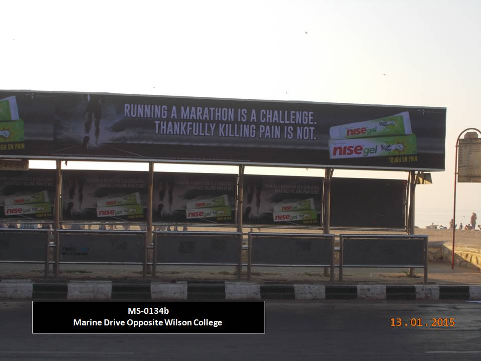 Outdoor Advertising in Bus Shelter Marine Drive