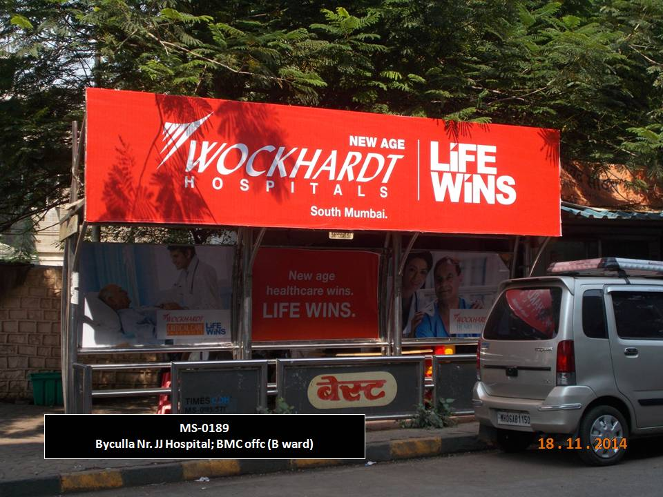 Outdoor Advertising in Bus Shelter Byculla