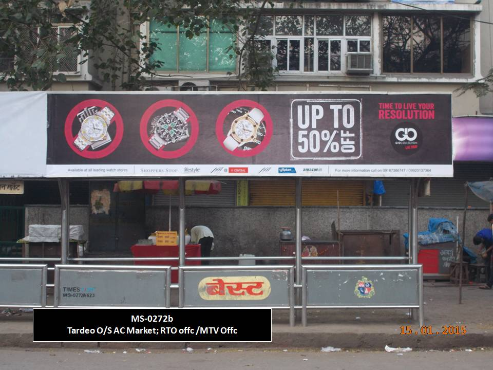 Outdoor Advertising in Bus Shelter Tardeo